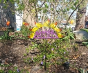 Welcome-Home-garden-stake-Purple-letters