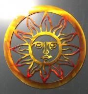 Sun w Face wall art
