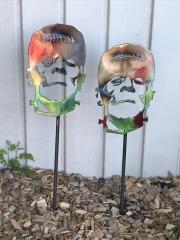 Frankstein-head-yard-stake