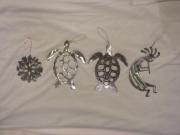 Xmas-Ornaments---snowflake,-turtle,-kokopelli