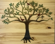 3-Little-Birds-in-Tree-on-natural-wood-red-birds-betsy-pic