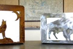 Napkin Holder - Wolf and Bison