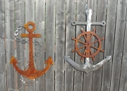 Anchors-on-fence