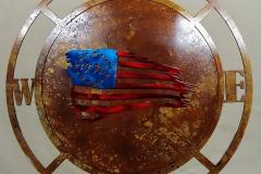 Compass-distressed-USA-flag