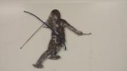 Slalom-Skier---brushed-metal-w-blue-gate