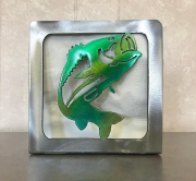 Fish-napkin-holder-green-and-brushed-metal