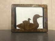 Loon-napkin-holder-rusted