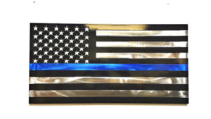 Metal Art Police US Flag