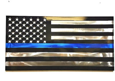 Metal Art Police US Flag