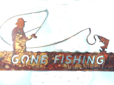 Metal Art Gone Fishing