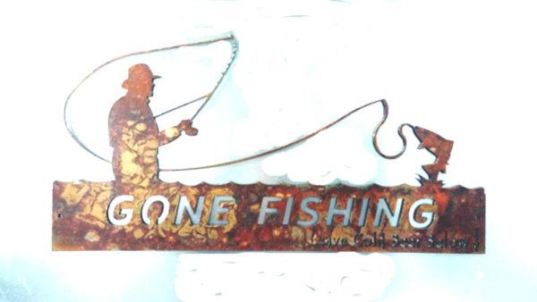Metal Art Gone Fishing