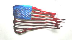 50 Stars USA Metal Flag