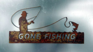 Fishing Metal Art