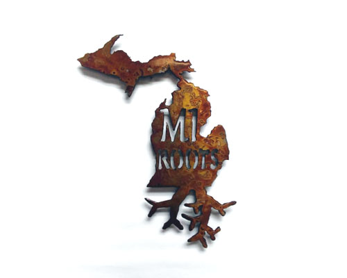 Michigan Roots Metal Art