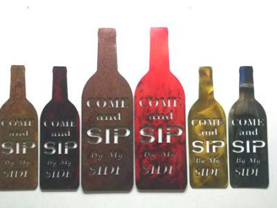 Metal Art Home Decor Wine Gift