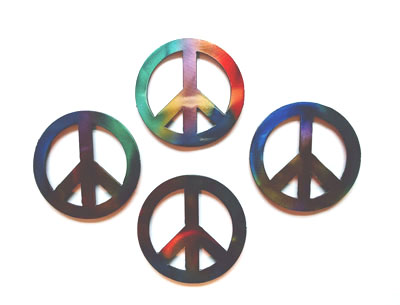 Metal Peace Sign Magnets