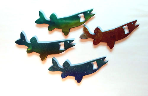 Metal Fish Bottle Openers