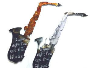 Metal Art Saxophone