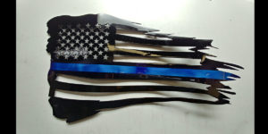 Blue Line Flag, Police Flag, USA Flag