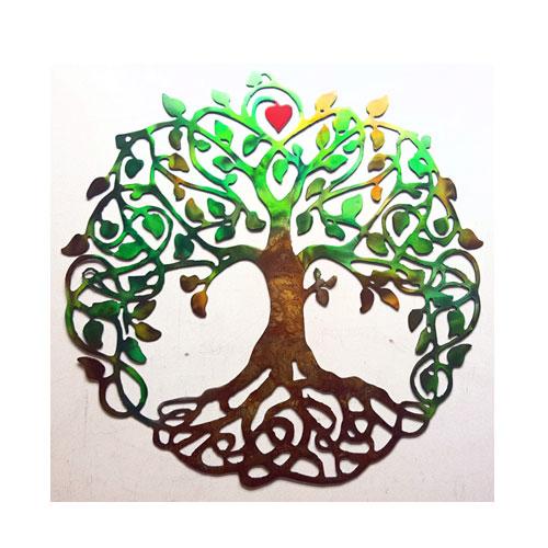 tree of life, metal art, michigan