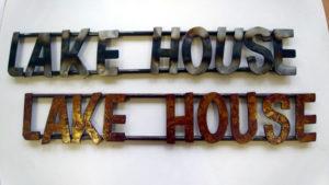 LAKE-HOUSE Metal Art