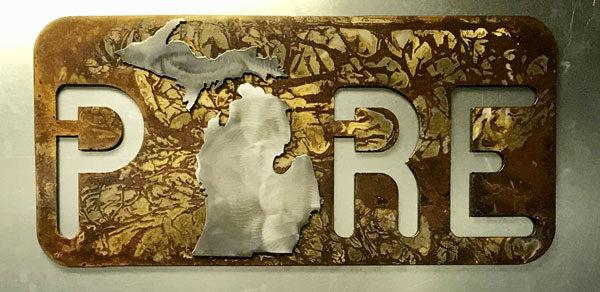 Pure Michigan Metal Art