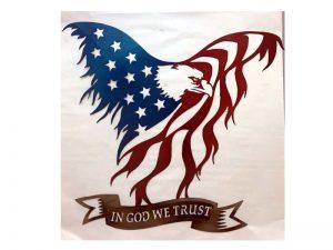 Eagle Flag Metal Art